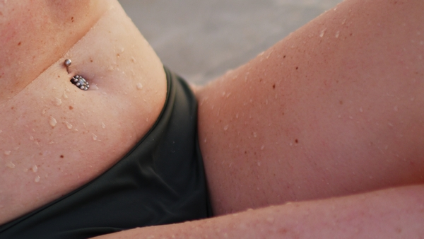a woman modeling in a bikini